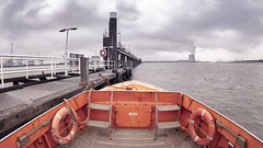 Waiting for the container giants to arrive.. (aantwaarpe) Tags: groen harbor harbour haven antwerpen loods water schelde belgium pier kranen doel orange oranje deurganckdok