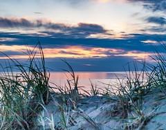 A Great One . . . (Dr. Farnsworth) Tags: sunset lakemichigan scenic drive dune grass sand clouds orange pink grey sleepingbear mi michigan summer june2013 ngc nationalgeographic discoveryaward