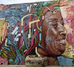 Street art #7, Getsemaní, Cartagena, Colombia, July 2017 (Judith B. Gandy (on and off, off and on)) Tags: art street wall cartagena cities colombia getsemaní graffiti publicart streetart wallart