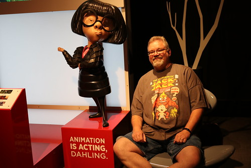 "Scott with Edna Mode from The Incrediblaes - The Science Behind Pixar • <a style=""font-size:0.8em;"" href=""http://www.flickr.com/photos/28558260@N04/43189261484/"" target=""_blank"">View on Flickr</a>"