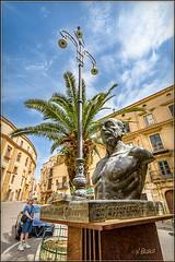Piazza Luigi Pirandello (Maclobster) Tags: luigi pirandello agrigento sicily italy bust statue piazza