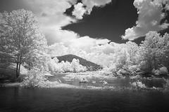 IR on the River (DRCPhoto) Tags: irconverteddslr canon5d digitalinfrared digitalir sigma1224mmdghsm cheatriver westvirginia