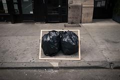 (Pau Buscató) Tags: streetphotography nyc manhattan 17th 28mm x70 candid art garbage