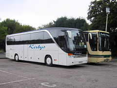 Kirbys Coaches of Rayleigh K60BYS (harryjaipowell) Tags: coach battle clcoaches premiereclass bus eastsussex coachpark jmcoaches clc crawleyluxurycoaches crawley w608fum jbrown volvo b10m plaxton premiere b10m62 350 battlecoachpark marketroad kirbyscoaches rayleigh essex k60bys kassbohrersetra s415hd c48ft 2006