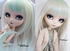 2008 vs 2018: Sne (·Yuffie Kisaragi·) Tags: doll pullip classical alice sepia sne obitsu rewigged rechipped