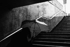 Polka Dots 345.365 (ewitsoe) Tags: 50mm canoneos6dii cityscape ewitsoe polska street warszawa erikwitsoe poland summer urban warsaw rain rainiing rainfall bnw mono monchrome blackandwhite bnwcity adventure travel umbrella woman wet drenched lady