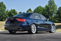Audi B8 S4 on TSW Sebring silver mesh concave wheels - 4 (tswalloywheels1) Tags: lowered blue audi b8 a4 s4 b8s4 audizine mesh concave aftermarket wheel wheels rim rims alloy alloys silver mirror cut tsw sebring 19in 19x95