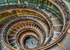 Bramante Staircase (Riddhish Chakraborty) Tags: bramante staircase vatican museum rome eurpe structure art