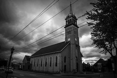 Restored. Windsor, ON. (Paul Thibodeau) Tags: photooftheday tecumseh nikond500 stannes church steeple restored blackandwhte architecture