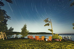 Wonderful Tonight (matthewkaz) Tags: astrophotography sky stars startrail startrails limelake lake water night dark longexposure leelanau trees michigan summer puremichigan cedar maplecity 2018 reflection reflections