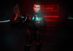 Don't Trust Em' (EnviouSLAY) Tags: assassinscene assassin scene futuristic red black bodysuit body suit gacha gun comlink earphones headset neonlights neon lights antinatural randommatter random matter taketomi groupgift group gift belleza bento lelutka newreleases new releases theepiphany the epiphany gachaevent gachadecor gachafashion gachafair fair event decor fashion accessories pale male gay blogger secondlife second life photography