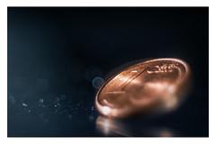 "Lucky penny _ MM _ ""Trinkets"" (Werner D.) Tags: wernerd macro makro macromondays details color colour bewegung bokeh domiplan2850mm cent eurocent luckypenny glückscent glückspfennig trinkets trinket"