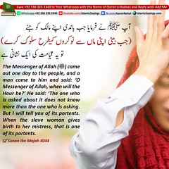 When-the-slave-woman-gives-birth-to-her-mistress (aamirnehal) Tags: quran hadees hadith seerat prophet jesus moses book aamir nehal love peace quotes allah muhammad islam zakat hajj flower gift sin virtue punish punishment teaching brotherhood parents respect equality knowledge verse day judgement muslim majah dawud iman deen about son daughter brother sister hadithabout quranabout islamabout riba toheed namaz roza islamic sayings dua supplications invoke tooba forgive forgiveness mother father pray prayer tableegh jihad recite scholar bukhari tirmadhi