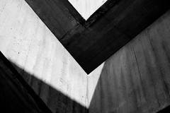 Chevrons (That James) Tags: chevrons concrete brutal brutalism cement brutalist newbrutalism modern modernism modernist engineer engineering engineered civilengineering architect architecture architectural nationaltheatre stairwell staircase denys lasdun denyslasdun roughcast built casted wooden moulds abstract blackandwhite bw minimal minimalism minimalist geometry shapes geometric 1960s 1970s angular triangular gradient london england uk city urban urbanism development