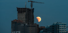 Eclipse (free3yourmind) Tags: eclipse 2018 july moon rise city buildings minsk belarus