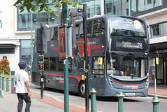 NXWM 6827 @ Priory Queensway, Birmingham (ianjpoole) Tags: national express west midlands alexander dennis enviro 400mmc sn66wep 6827 working platinum route 29 steelhouse lane birmingham holly hill shopping centre frankley