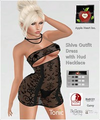 Apple Heart Inc. Shiva Outfit with Hud (Apple Heart Inc.-SL) Tags: outfit dress necklace hud tranparent lace belleza maitreya slink ebody tonic