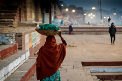 Dawn at the Ghats-DSC_9022 (thomschphotography3) Tags: india asia benares varanasi ghats dawn morning lights woman