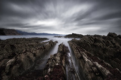 More and more lines (Anto Camacho) Tags: landscape seascape ocean oceanscape rocks sea lines sky longexposure zumaia euskadi spain clouds storm