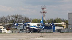 Aero-Charter AN-12 UR-DWG parked at KBP/UKBB (Jaws300) Tags: antonov ukraine east europe parking ramp apron stand terminal gate ukrainian airlines air an12 turboprop turbo prop propeller plane airplane aircraft airliner remotestand easteurope kiev boryspil international airport kievboryspilinternationalairport parked kbp ukbb antonovan12 aerocharter aero charter freight freighter cargo kodak an12bk urdwg