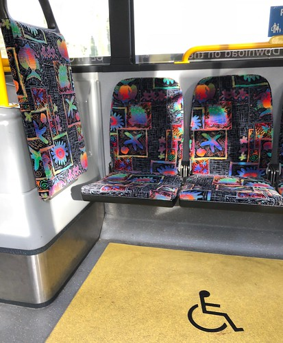 Sun shines on the bus seat