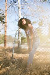American Blues (Abigail Gorden) Tags: fashion style editorial bluejeans denim americana usa fro beauty makeup mua makeupartist hair cali california la desert light shadow sun sunlight goldenhour modweling model girl outdoor nature