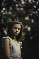 (Rebecca812) Tags: girl child eyesclosed beauty spring dress timeless artistic art fineartphotography serene nature ruffles breeze hair lowangle portrait people rebeccanelson outdoors rebecca812