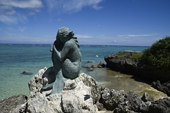 Another view of The Mermaid in Okinawa (lh tanG) Tags: mermaid ocean okinawa outdoor rock