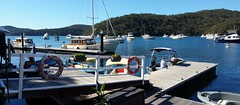 2018-08-13_08-36-17 Cottage Point. (2) (Boat bloke) Tags: sydney australia cottage point boat water blue sky cowan creek kuringai chase wooden classic timber wharf jetty coast waterfront