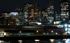 City of Boston's Nightscape (kuntheaprum) Tags: cityofboston nightscape longexposure nikon d80 samyang 85mm f14 sigma 50mm water boat