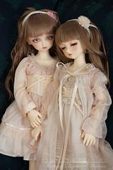 twins (Salerosa) Tags: volks sdm super dollfie midi kira nana sarah sidonie bjd abjd dolls