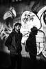 Thin (Kieron Ellis) Tags: street candid man shadow light blackandwhite blackwhite monochrome contrast beard urban graffiti