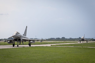 RAF Typhoon Crews Congratulate Croatians as Joint Training gets Underway