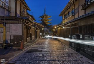 Kyoto Street and Yasaka Pagoda
