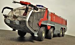 Rosenbauer Airport Fire Tender. (ManOfYorkshire) Tags: man rosenbauer panther 8x8 allwheeldrive airport fire truck tender appliance engine siku diecast 150 scale model ogauge