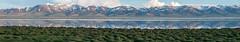 Lac Song-Köl et environs, Kirghizistan (Pascale Jaquet & Olivier Noaillon) Tags: lac paysage ciel coucherdesoleil montagnes reflets nuages panorama7 neige lacsongköl naryn kirghizistan kgz