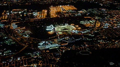 Newark Airport on departure (Dave_Senior) Tags: newark ewr iphone iphone7 night airport departure newjersey runway airborne terminal lights aircanada e190 embraer