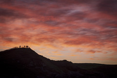 Watching (cliveg004) Tags: sangobay durness sutherland sea rocks beach cliffs sunset waves red clouds scotland northwesthighlands sand nikon d5200 silhouette