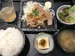 Pork-Ginger Lunch @Masuya, Tokyo (Phreddie) Tags: japanesefood pork ginger lunch restaurant food tokyo japan