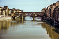 Ponte Vecchio (Bill in DC) Tags: italy italia firenze florence 1968 film 35mm kodachrome64 agfa arno pontevecchio