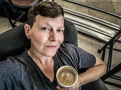 Oh yes, yes yes yes (Melissa Maples) Tags: me melissa maples selfportrait woman brunette istanbul turkey türkiye asia apple iphone iphonex cameraphone ist atatürkairport airport food drink coffee starbucks flatwhite