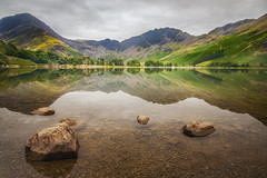 Beautiful Buttermere (Rich Walker75) Tags: buttermere lakedistrict lake reflections fell mountain mountains water rock sky cloud clouds landscape landscapes landscapephotography landmark landcapes colour canon england efs1585mmisusm eos eos80d morning calm still trees green greatbritain