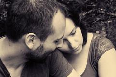 L&F (Eli Loo) Tags: noir et blanc black white monochrome portrait love amour couple lovers