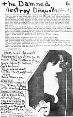 Live reviews (stillunusual) Tags: septicears fanzine musicfanzine punkfanzine punkzine magazine musicmagazine punk punkrock thedamned damned theadverts adverts gayeadvert 1970s 1977