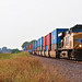 UP 5421 Leads EB Intermodal near Lawrence, KS 8-11-18