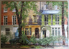 Brompton Square (pefkosmad) Tags: jigsaw puzzle wooden plywood hobby leisure pastime complete used secondhand vintage victory gjhaytercoltd pre1970 davidshepherd bromptonsquare painting art houses london