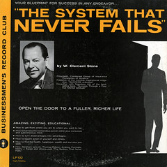 The System That Never Fails (Jim Ed Blanchard) Tags: lp album record vintage cover sleeve jacket vinyl weird funny strange kooky ugly thrift store novelty system never fails clement stone motivational instructional bussinessman success