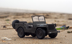 Jeep (peterphotographic) Tags: p5260668edwm olympus em5mk2 microfourthirds ©peterhall utah utahbeach normandy normandie france dday normandylandings overlord war military worldwartwo jeep willysjeep usarmy invasion beach sand toy scalemodel depthoffield dof bokeh