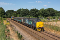 37419 Brundall Gardens 25/07/18 - 37419 slows for the stop at Brundall Gardens with the 1036 Norwich to Great Yarmouth service. (rhayward92) Tags: 37419 drs direct rail services abellio greateranglia class 37 2p18 brundall gardens