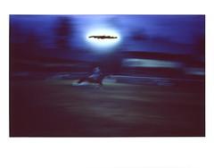 Barrel Racing 1 (tobysx70) Tags: fujifilm fuji instax wide color instant film bigpitchers 500af camera barrel racing high country stampede rodeo fraser colorado co horse rider cowgirl motion blur floodlights black sun polaradoone polarado 072118 toby hancock photography